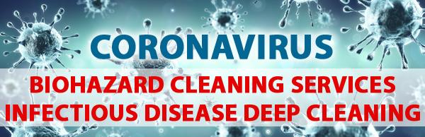 coronavirus biohazard cleaning